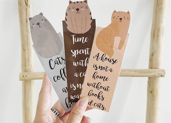 Cat Lovers Laminated Bookmark