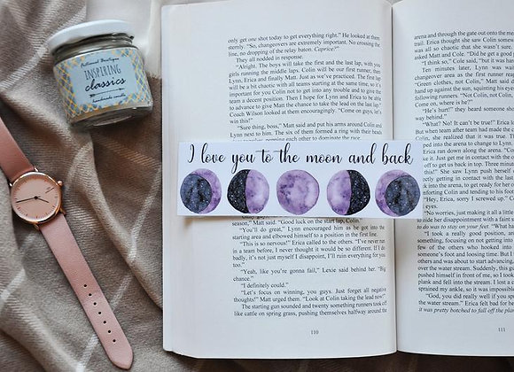 I Love You To The Moon And Back Laminated Bookmark