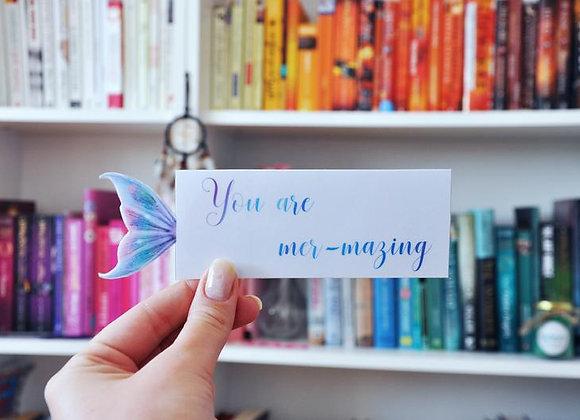 Mermaid Laminated Bookmark