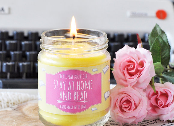 Stay At Home And Read Bookish Candle