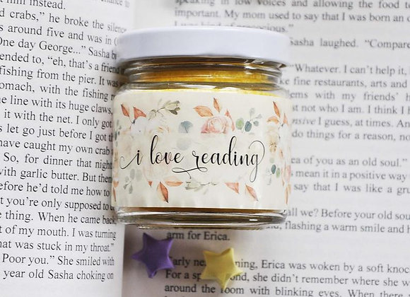 I Love Reading Candle