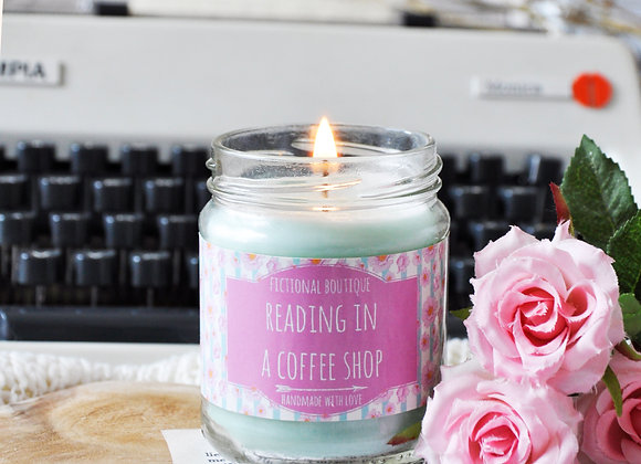 Reading In A Coffee Shop Bookish Candle