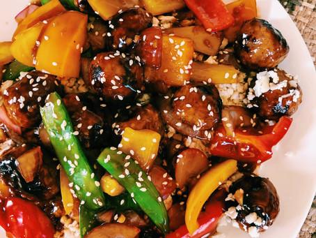 Teriyaki Meatballs W/ veggies @sarahscookingadventure