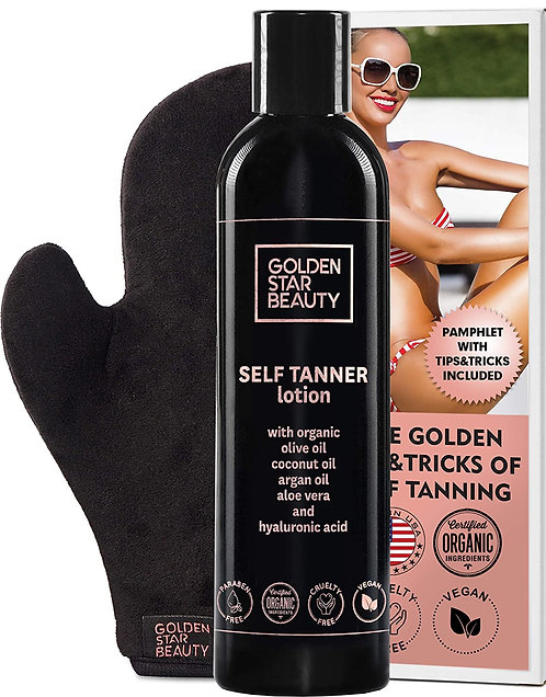 Tanning Lotion With Mitt