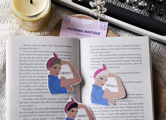 I Can Read It Laminated Bookmark