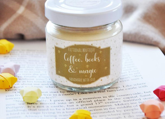 Coffee, Books And Magic Candle