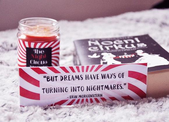Night Circus Inspired Laminated Bookmark