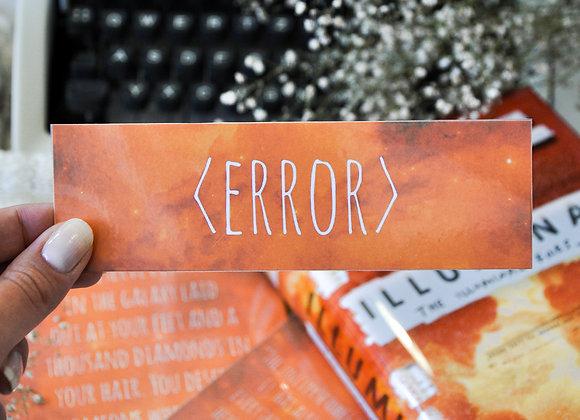 Error Laminated Bookmark