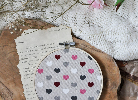 Hearts Pin Hoop