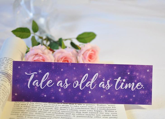 Tale As Old As Time Laminated Bookmark