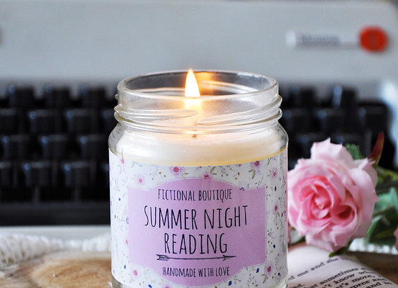 Summer Night Reading Bookish Candle