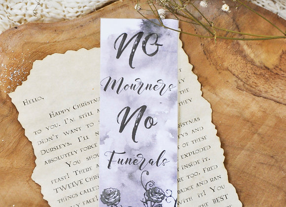 No Mourners No Funerals Laminated Bookmark