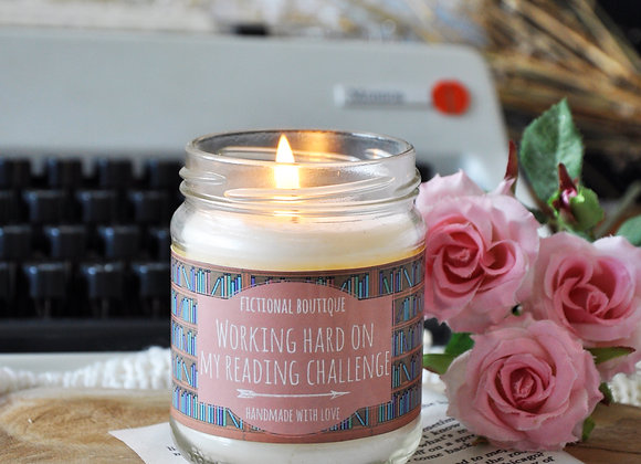 Working Hard On My Reading Challenge Bookish Candle