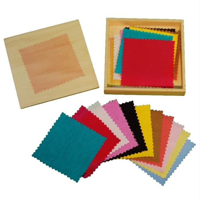 Boîte à tissu Montessori - activité sensorielle