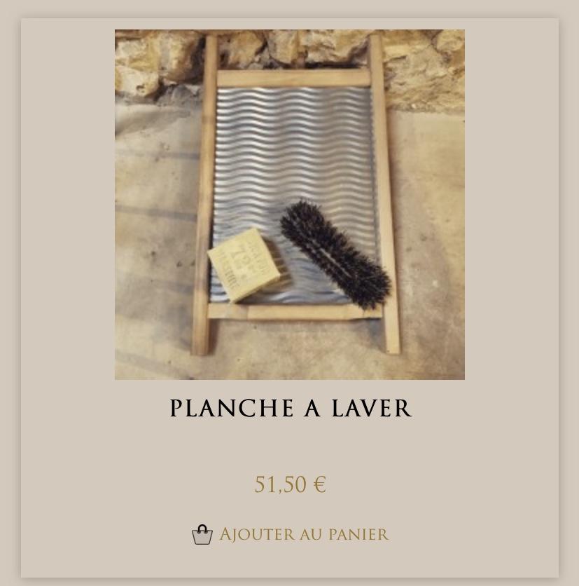 Planche à laver chez Maison Empereur à Marseille: objet désuet mais si joli
