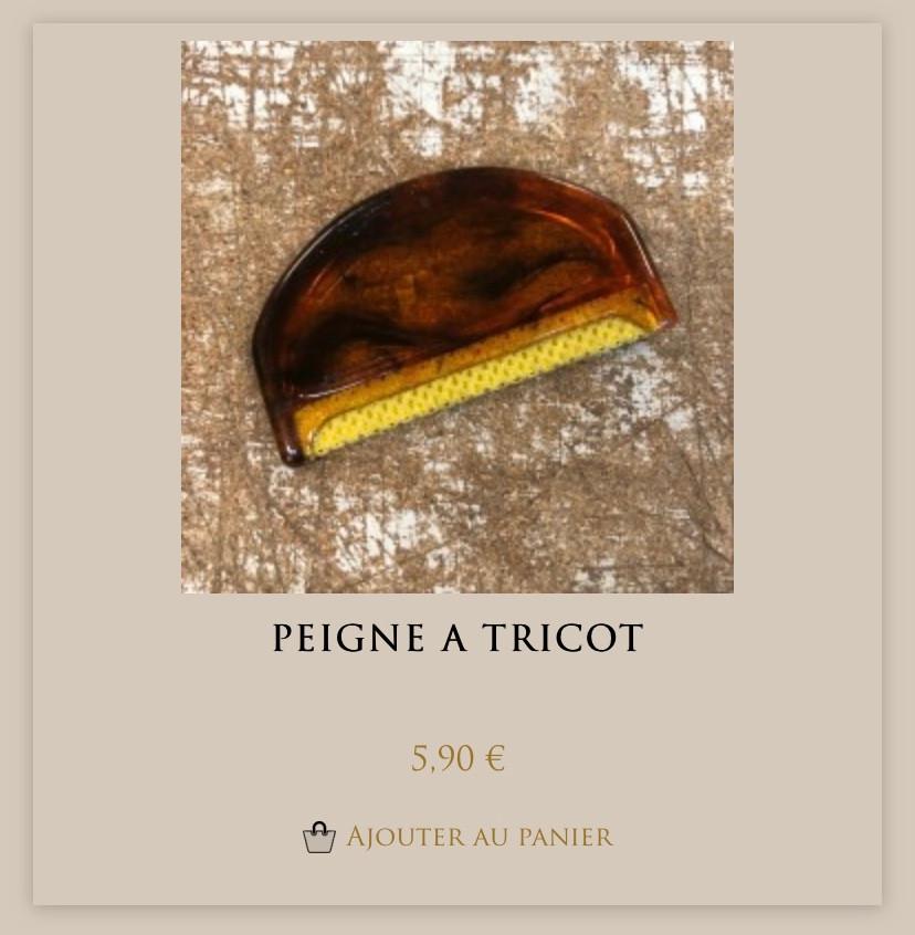 Peigne à tricot de Maison Empereur à Marseille