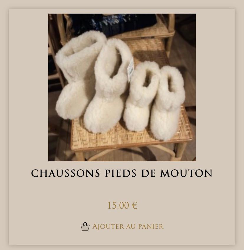 Chaussons Mouton de rêve chez Maison Empereur à Marseille