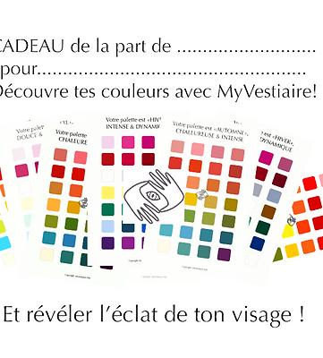 Carte cadeau : consultation couleur