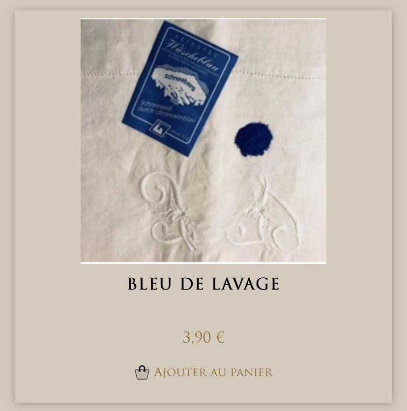 Bleu de lavage chez Maison Empereur à Marseille pour récupérer un linge très blanc !