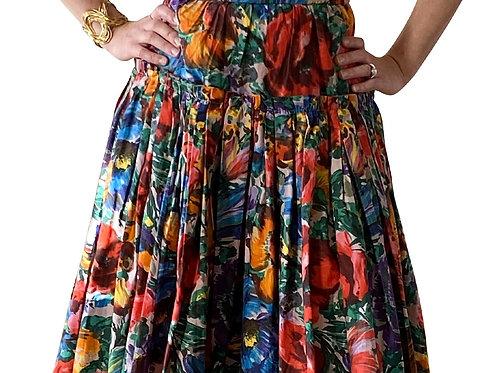 Robe à fleurs popeline