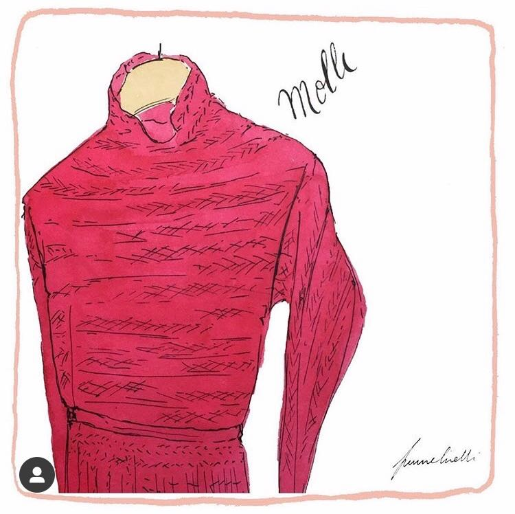 Robe Molli en maille plissée chevron rose Cosmo