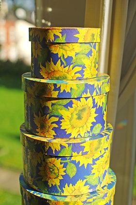 Amazing Vintage Sunflower Storage Boxes - Choose Your Set