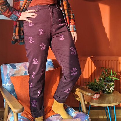 Shroomy | Reworked High Waisted Jeans