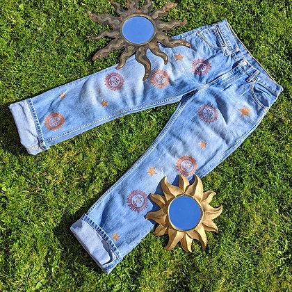 Hand Painted Stars & Sun Bum Jeans
