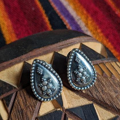 Large Teardrop Studs | Sterling Silver