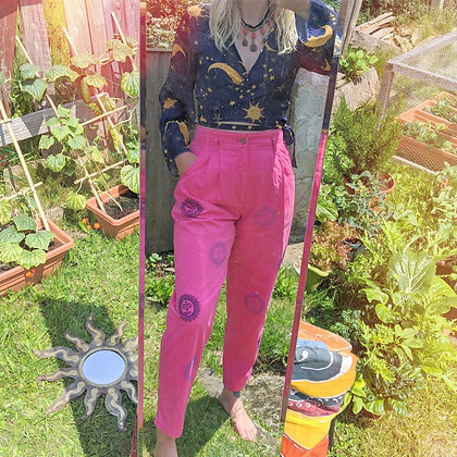Hand Painted Sun Pink Dockers