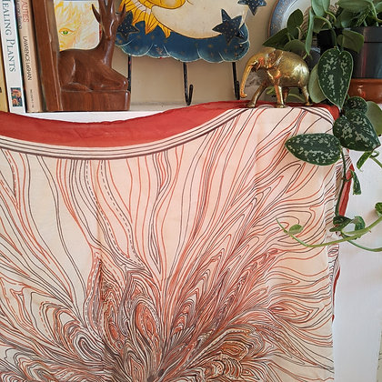 Beautiful Jaeger Silk Vintage Scarf / Wall Hanging