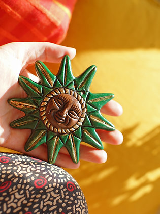 Handmade Ceramic Celestial Sun - Choose Colour