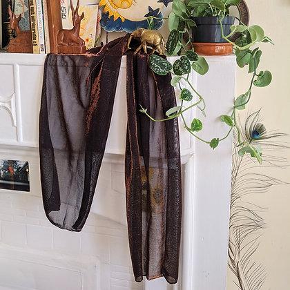 Beautiful Glitter Copper Vintage scarf