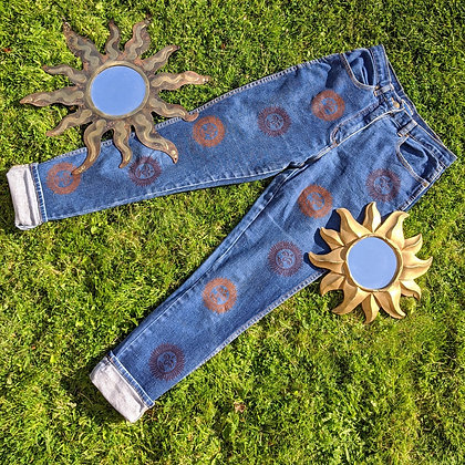 Hand Painted Sun Bum Jeans
