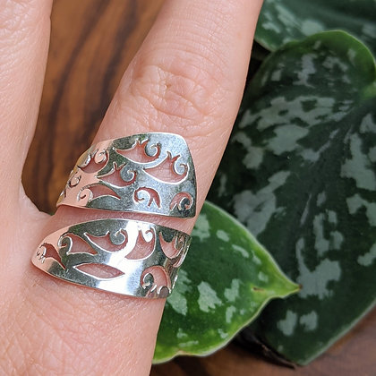 Adjustable Cut Out Ring | Sterling Silver