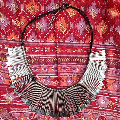 Beautiful Ethnic Silver Necklace