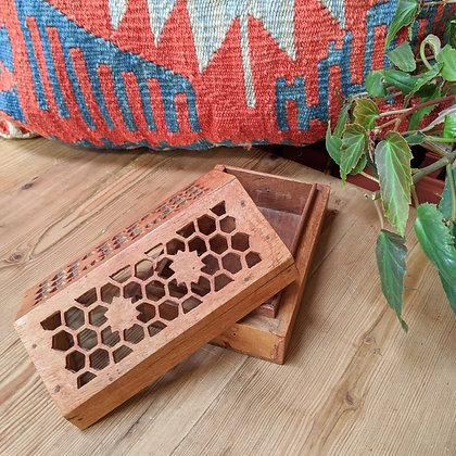 Vintage Wooden Honeycomb Box
