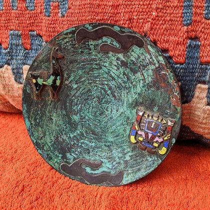 Mexican Vintage Metal Hanging Plate