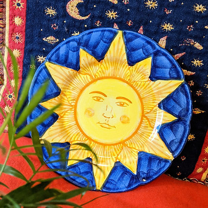 Sun Face Painted Plate