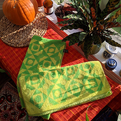 Vintage Lime Towel Set of 2