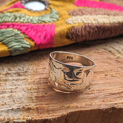 Arrow Cut Out Ring | Sterling Silver