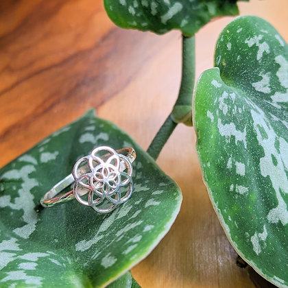 Mandala Flower Ring | Sterling Silver