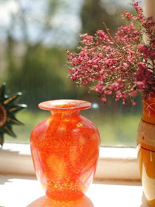 Beautiful Metallic Peachy Glass Vase