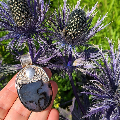 Dreamy Large Chunky Gemstone Pendant | Sterling Silver