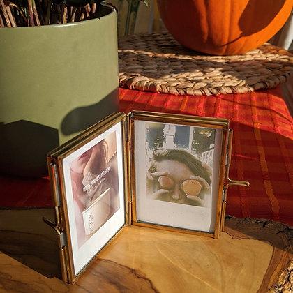 Beautiful Polaroid Gold Brass Photo Frame