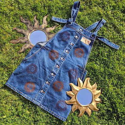 Hand Painted Sun Bum Dungaree Dress
