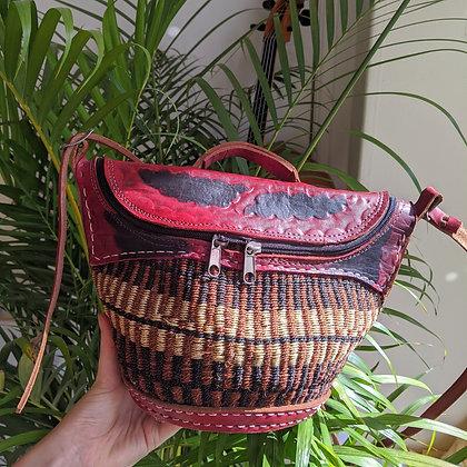 Beautiful Earthy Red Sisal Basket Bag