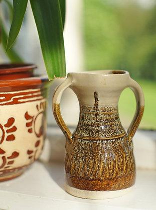 Earthy Ceramic Glazed Vintage Vase