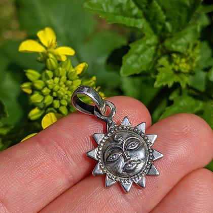 Sun Pendant | Sterling Silver