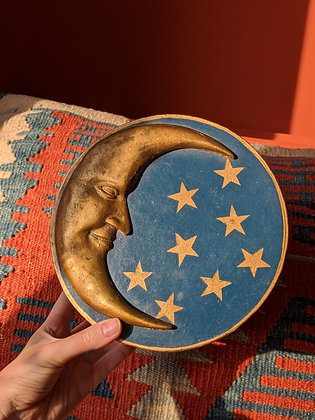 Hand Painted Gold Moon Box